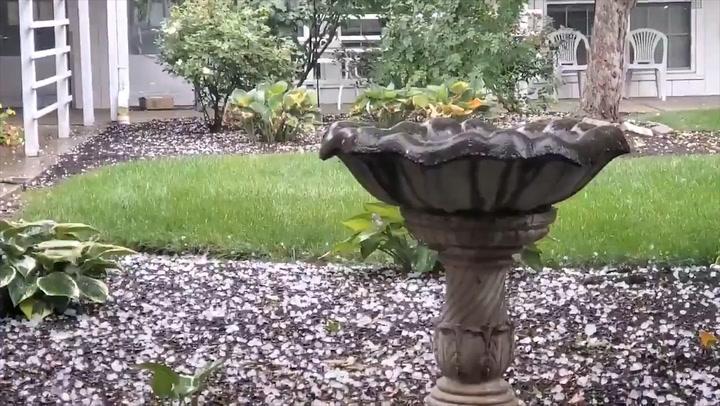 Heavy hail and rain strike Columbus