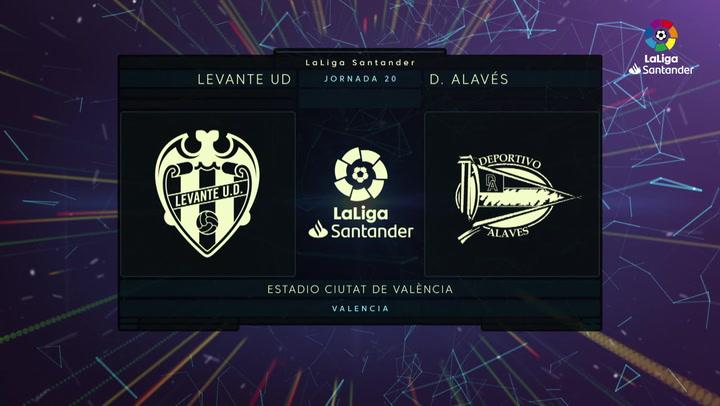 LaLiga (J20): Resumen y goles del Levante 0-1 Alavés