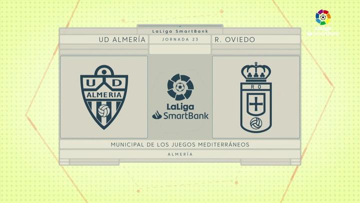LaLiga SmartBank (J23): Resumen y goles del Almería 2-0 Oviedo