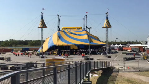 El Cirque du Soleil ya desplegó su gran carpa en el autódromo