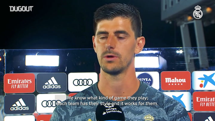 Courtois: 'We knew it was going to be tough'