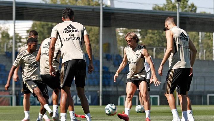 Último entrenamiento del Real Madrid antes del partido frente al Leganés
