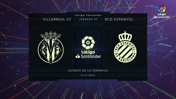 LaLiga (J20): Resumen y goles del Villarreal 1-2 Espanyol