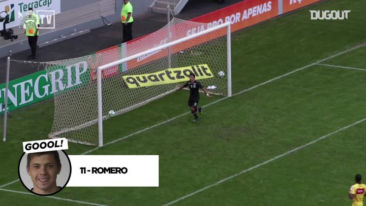 Ángel Romero scores three vs CR Vasco da Gama