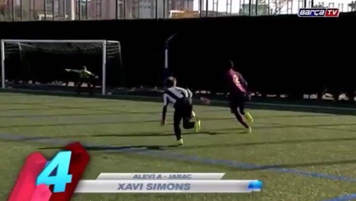 Xavi Simons, cadete holandés del FC Barcelona