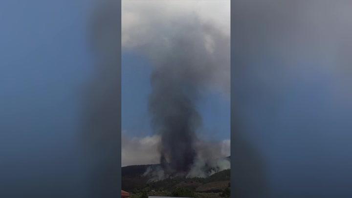 La Palma volcano: Evacuations underway after eruption on Spanish island