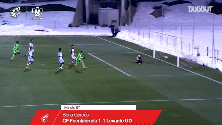 Óscar Pinchi's backheel assist against Levante