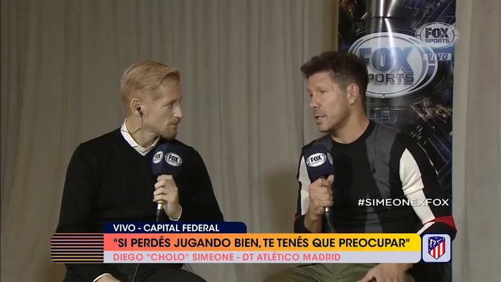 """Simeone: """"¿Joao Félix? Históricamente hemos fichado jóvenes con talento que se desarrollen"""""""