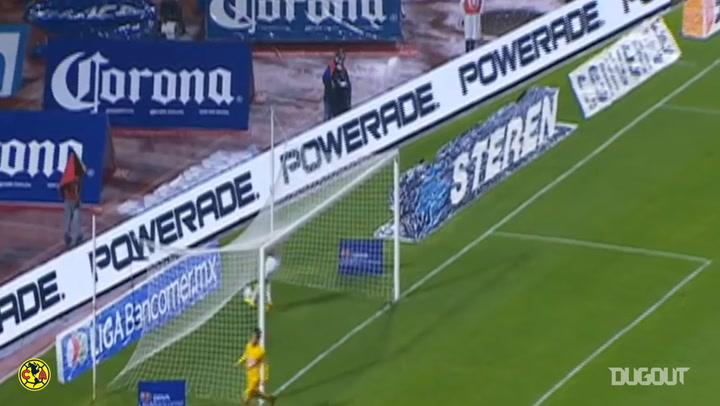 Luis Ángel Mendoza's goal vs Pumas