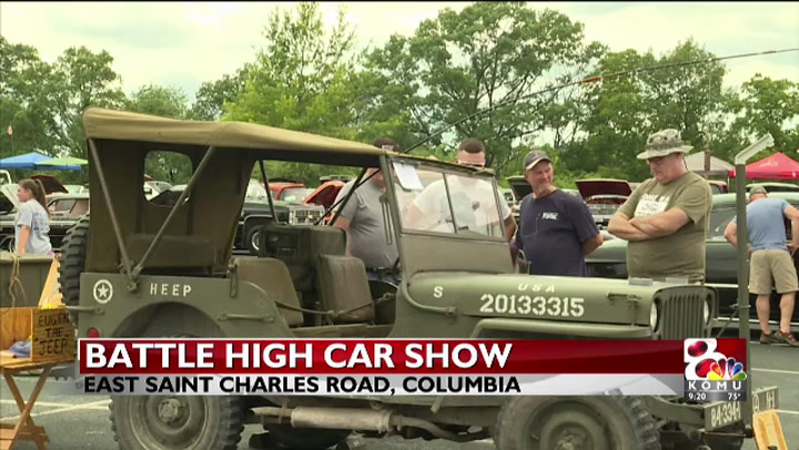 One Battle High School softball player prepares to pass annual car show on