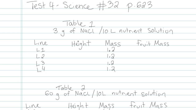 Test 4 - Science - Question 32