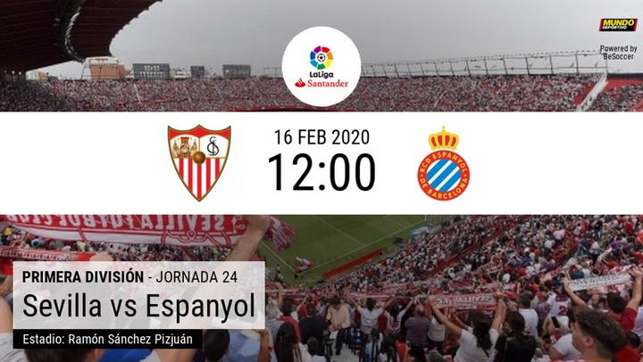 Sevilla - Espanyol: las estadísticas de la previa
