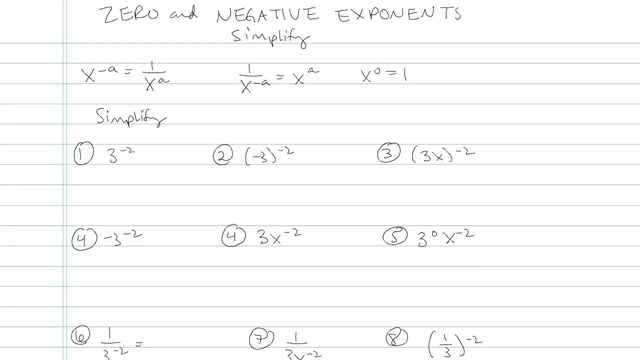 Zero and Negative Exponents - Problem 5
