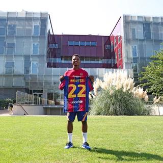 Ansu Fati presume nuevo dorsal en su camiseta con el Barcelona de cara a la temporada 2020-21