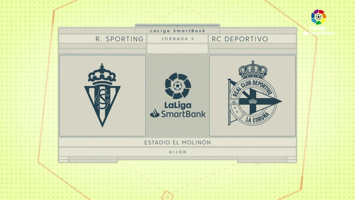 LaLiga SmartBank (J5) Resumen y goles del Sporting 1-1 Deportivo