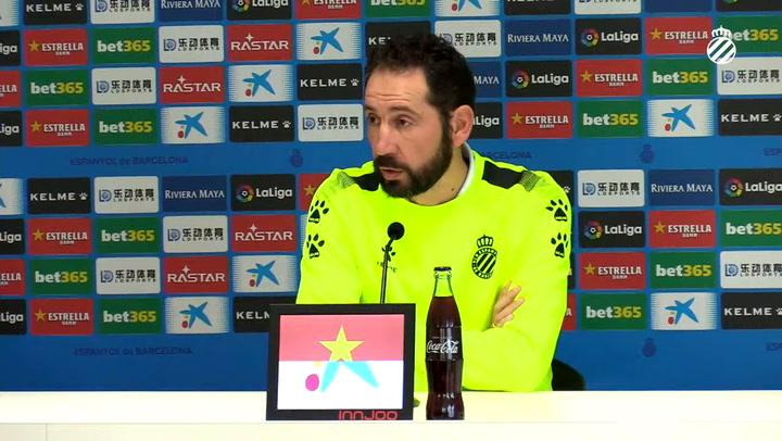 Rueda de prensa de Machín previa a la visita al Bernabéu