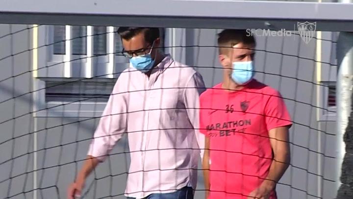 El Sevilla vuelve a los entrenamientos para preparar la cita con la Roma