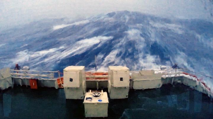 Slik er det ute på Nordsjøen i ekstremvær