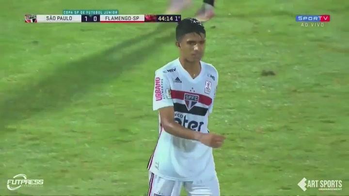 Así juega Gustavo Maia, extremo del Sao Paulo