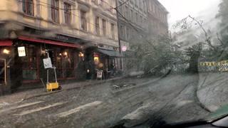 Voldsomt uvær i Oslo