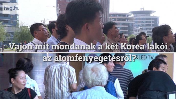 Mit gondolnak a két Koreában vezetőik izmozásáról?