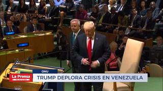 Trump deplora crisis en Venezuela