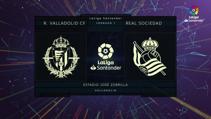 LaLiga (J1): Resumen y goles del Valladolid 1-1 Real Sociedad