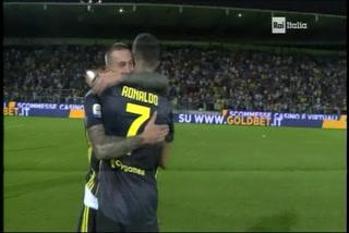 Cristiano Ronaldo anota su tercer gol en el triunfo de la Juventus sobre el Frosinone