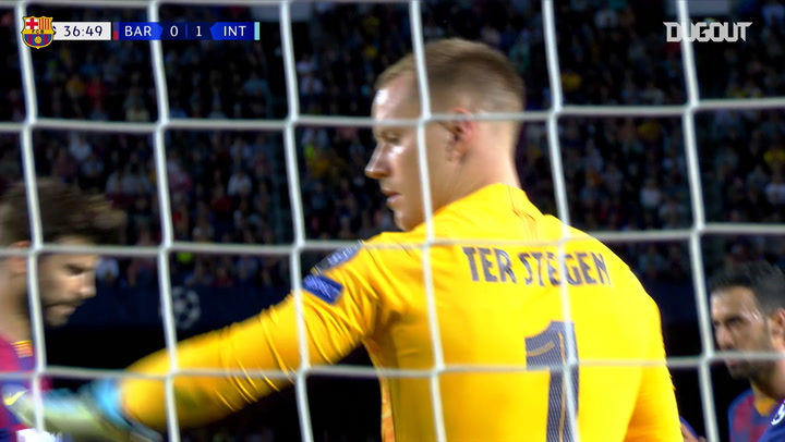 Incredible save by Marc-André Ter Stegen