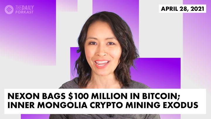 Nexon Bags $100 Million in Bitcoin; Inner Mongolia Crypto Mining Exodus