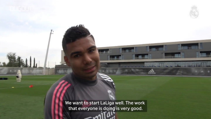 Casemiro: 'We've started at full speed and we're already focusing on the first league game'