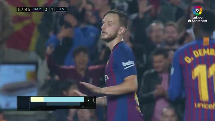 Así fue el golazo de Ivan Rakitic en el Barca - Sevilla de Liga