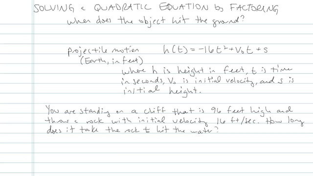 Solving Quadratic Equations by Factoring - Problem 5