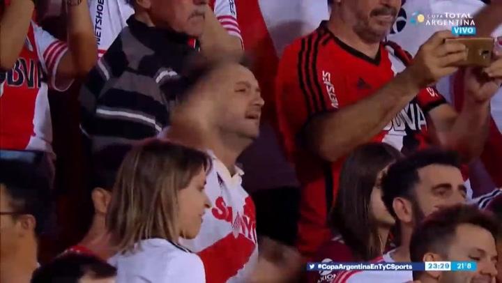 River Plate celebra la consecución de la Copa Argentina