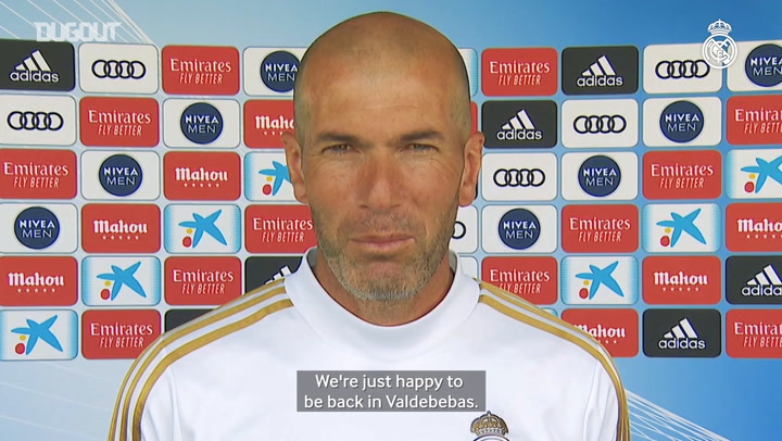 Zidane: 'We're going to prepare to finish the season strongly'