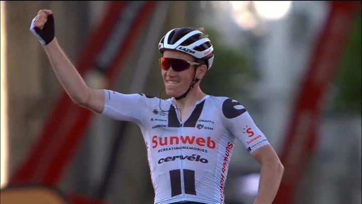 Así ha sido el último km de la victoria de Søren Kragh Andersen en la 14a etapa del Tour