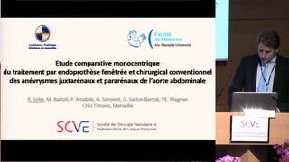 Etude comparative mono centrique du traitement endovasculaire par endoprothèse fenêtrée et chirurgical conventionnel des anévrismes juxtarénaux et pararénaux de l