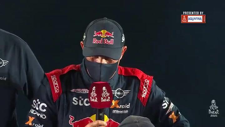 Peterhansel, gran protagonista en la entrega de trofeos del Dakar 2021