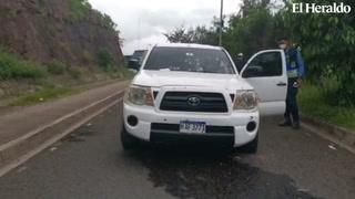 Atentan contra una persona que se conducía en un vehículo en salida a Danlí