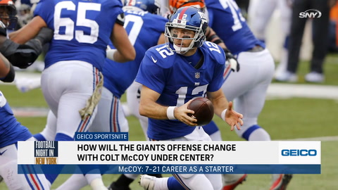 FNNY: How Giants could look under Colt McCoy if Daniel Jones misses Week 13