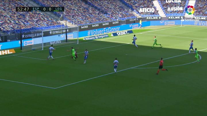 Gol de Jonathan Silva (0-1) en el Espanyol 0-1 Leganés