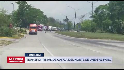 Transportistas de carga del norte se unen al paro
