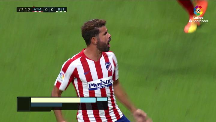 Gol de Diego Costa (1-0) en el Atlético 1-0 Betis