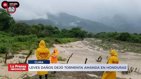 Noticiero: Leves daños dejó tormenta Amanda en Honduras