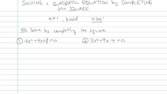 Solving a Quadratic by Completing the Square - Problem 7