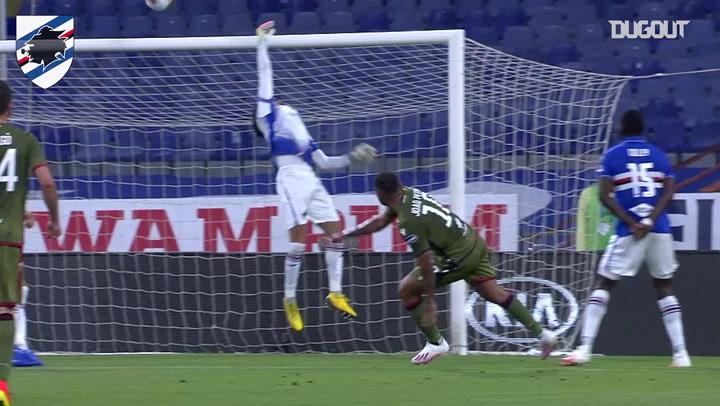 Audero's fingertip save shuts out Cagliari