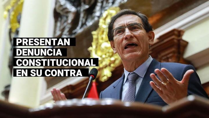 Presentan denuncia constitucional contra Vizcarra, Mazzetti y Astete por vacunación irregular