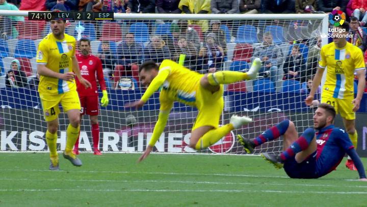 LaLiga: Levante-RCD Espanyol. Expulsión de Rochina