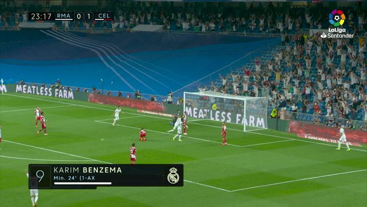 Gol de Benzema (1-1) en el Real Madrid 5-2 Celta de Vigo