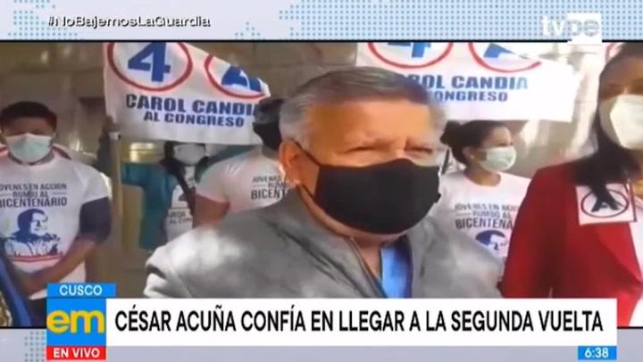 """Acuña: """"Me voy a vacunar al último, no quiero cometer el error de Martín Vizcarra"""""""